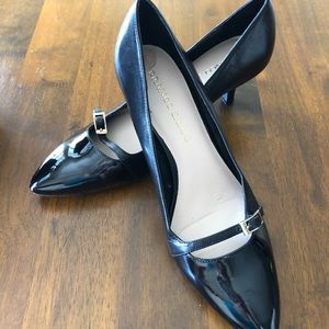 Franco Sarto Black Rasta Leather Heel